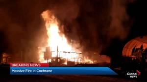 Large blaze in Cochrane