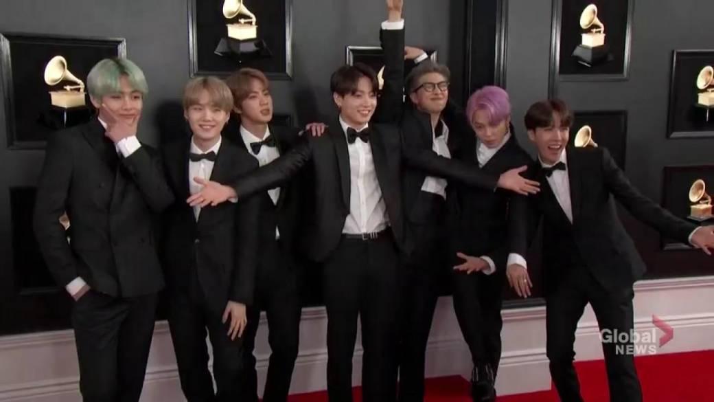 K Pop Band Bts Makes Grammy Awards Debut Fans Lose It On Social