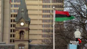 Pan African flag raising ceremony in Halifax (01:50)