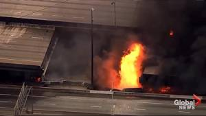 State of emergency declared after Atlanta overpass catches fire, collapses
