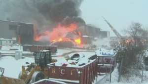 Laval industrial fire destroys recycling plant