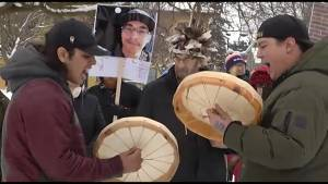 'Justice for Colten Boushie' vigil held in Peterborough on Sunday