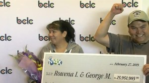 Merritt couple wins 'life-changing' $25.9 million lottery jackpot