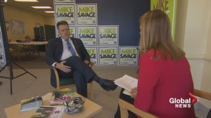 Mayoral candidate Mike Savage defends his record as he asks for second term