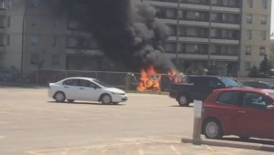 Flames consume van in Winnipeg