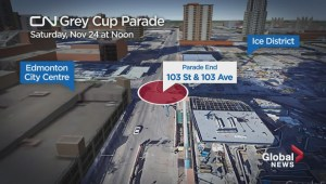 CN Grey Cup Parade route in Edmonton