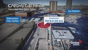 CN Grey Cup Parade route in Edmonton