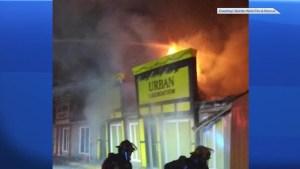 Fire that tore through Trenton plaza deemed as suspicious