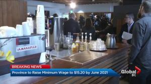 B.C. takes first steps to raise minimum wage to $15.20