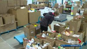 Edmonton's Food Bank falling short of goal, 1 week before Christmas
