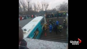 Bus drives into pedestrian underpass in Moscow, kills four