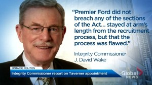 Integrity commissioner releases report on Ron Taverner appointment