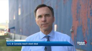 Federal finance minister says steel tariff deal gives him hope for future of softwood lumber
