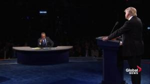Presidential debate: Clinton slams Trump over 'racist birther lie'