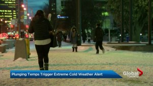 Plunging temperatures in Toronto trigger extreme cold weather alert