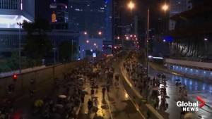 Massive pro-democracy march in Hong Kong remains peaceful amid rising tensions