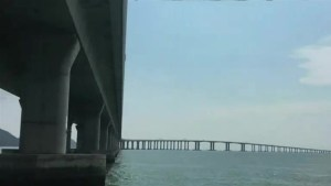 China opens world's longest sea bridge spanning 55 km