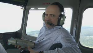 Flying in the Goodyear blimp