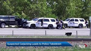 Dramatic police takedown north of Calgary