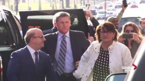 Michael Flynn arrives at DC courthouse to answer charge of lying to the FBI