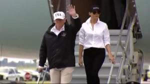 Trump arrives in Texas to receive Hurricane Harvey update