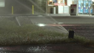 Raw: New Westminster gas station caught wasting water