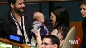 New Zealand PM makes history with baby at UN Assembly