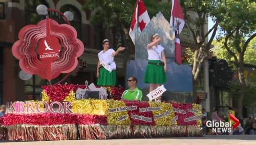 Annual parade to kick off Whoop-Up Days turns into sea of green