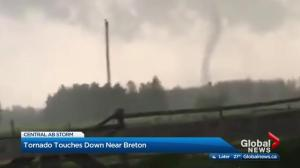 Severe Alberta weather brings twister, hail and wind