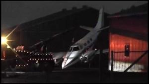 Emergency landing at Peterborough Airport