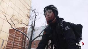 Life of a bike courier during Edmonton winters explored in new 'Snow Warrior'documentary