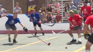 Local hockey teams play with NHL'ers at Taylor Hall charity tournament
