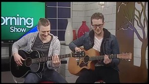 Dawson McManus and Brandon Humphrey of 'BROKEN HARMONY' add a little jazz  to The Morning Show on CHEX