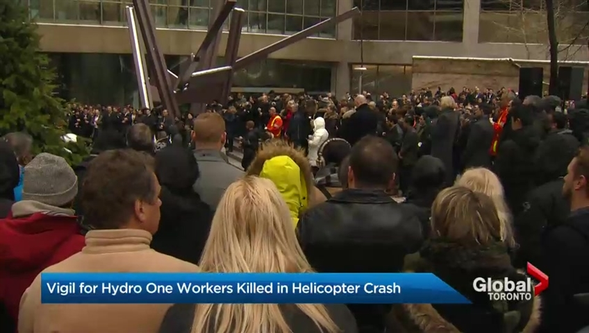 Vigil For Hydro One Workers Killed In Helicopter Crash Watch News Videos Online