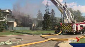 Residents left homeless after fire destroys Millwoods town home complex
