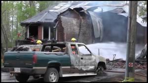 Explosion rips through house on Sturgeon Lake
