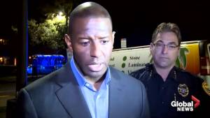 Andrew Gillum reacts to Florida yoga studio shooting