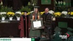 Survivor of UNCC school shooting accepts degree at commencement ceremony