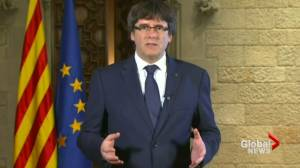 Catalonia's president says country can't accept 'illegal' control from Madrid