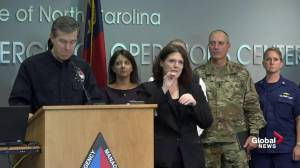 North Carolina has 17 confirmed deaths, 1200 road closures after Florence: Governor (05:28)