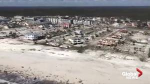 Hurricane Michael: Coast Guard helicopter captures scenes of devastation