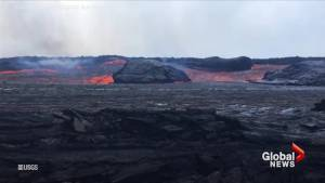 Fast-flowing lava reaches the Sea Off Hawaii