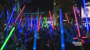 Star Wars actress Carrie Fisher remembered during 'lightsaber vigil' in California