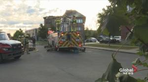 Four-alarm fire in Laval