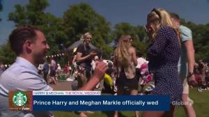 Royal Wedding: Man pops the question during Global News wedding special