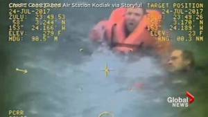 Captain leaps off fishing boat to rescue 2 crew members after vessel capsizes off Alaska coast