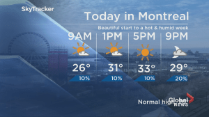 Global News Morning weather forecast: Monday, July 16th