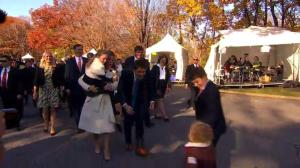 Justin Trudeau's kids rush to join Dad on his way to Rideau Hall