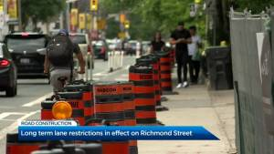 Construction on Richmond Street begins, lane restrictions in effect