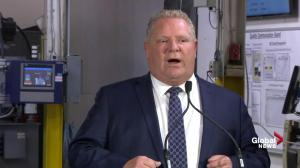 Doug Ford announces 10-year plan to boost Ontario auto sector